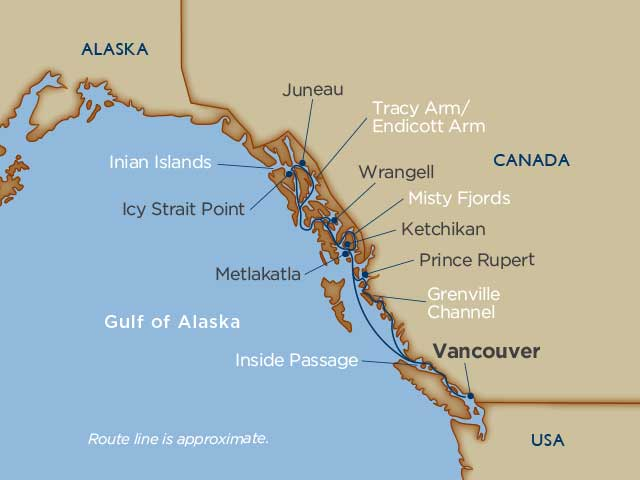 Windstar Alaska Map 2018